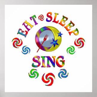 Poster Mangez le sommeil chantent
