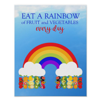 Poster Mangez une salle de classe éducative de