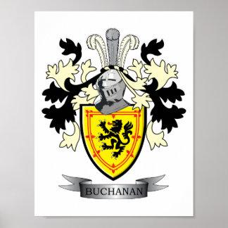 Poster Manteau de crête de famille de Buchanan des bras