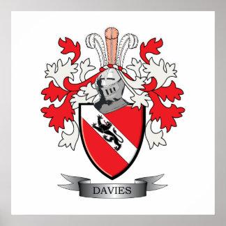 Poster Manteau de crête de famille de Davies des bras
