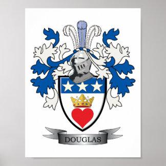 Poster Manteau de crête de famille de Douglas des bras