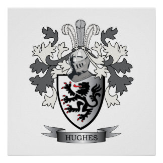 Poster Manteau de crête de famille de Hughes des bras