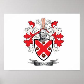 Poster Manteau de crête de famille de McFarland des bras