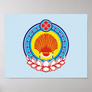 Poster Manteau des bras de la Kalmoukie