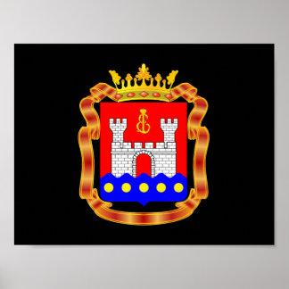 Poster Manteau des bras de l'oblast de Kaliningrad