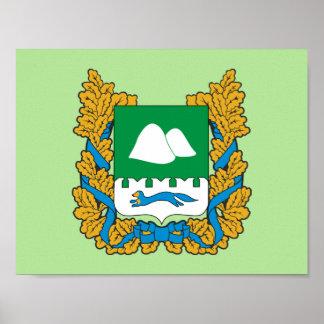 Poster Manteau des bras de l'oblast de Kurgan
