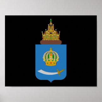 Poster Manteau des bras de l'oblast de l'Astrakan