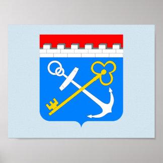 Poster Manteau des bras de l'oblast de Léningrad
