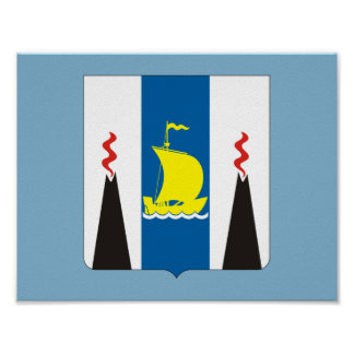 Poster Manteau des bras de l'oblast de Sakhaline