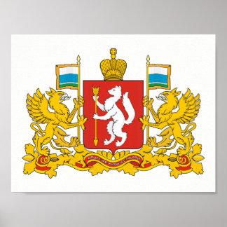 Poster Manteau des bras de l'oblast de Sverdlovsk
