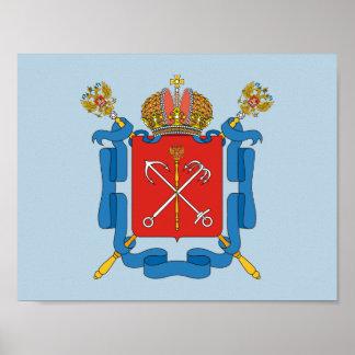 Poster Manteau des bras du St Petersbourg