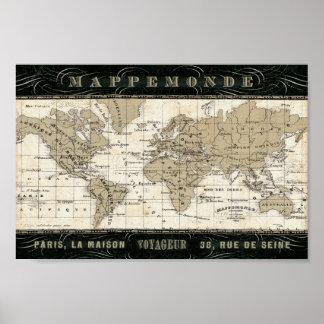 Poster Mappemonde