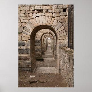 Poster Marche arquée dans Pergamon