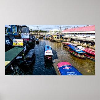 Poster Marché de flottement thaïlandais
