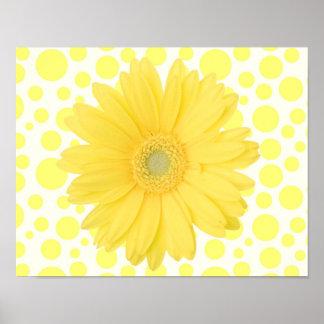 """Poster Marguerite jaune 14 x 11"""" affiche"""
