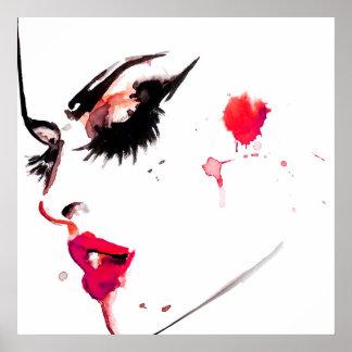 Poster Marquage à chaud de maquilleur de visage