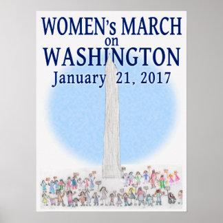 Poster Mars des femmes sur Washington - par la perle