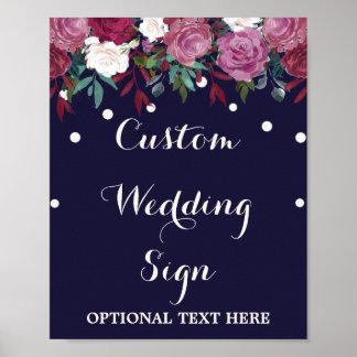 Poster Marsala et signe fait sur commande de mariage de