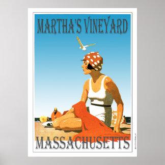 Poster Martha's Vineyard sur la plage