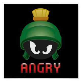 Poster MARVIN le MARTIAN™ Emoji fâché