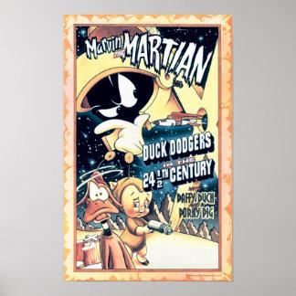 Poster MARVIN LE MARTIAN™, LE DAFFY DUCK™ et l'Elmer Fudd