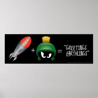 Poster MARVIN l'équation de MARTIAN™ Emoji