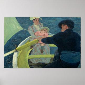 Poster Mary Cassatt - la partie de canotage