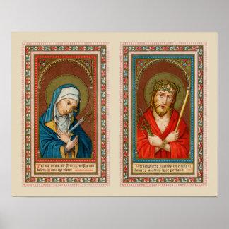 Poster Mary, mère Dolorosa et Jésus, ecce homo