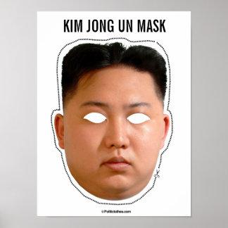 Poster Masque de l'ONU de Kim Jong