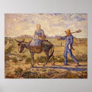 Poster Matin de Vincent van Gogh |, sortant pour