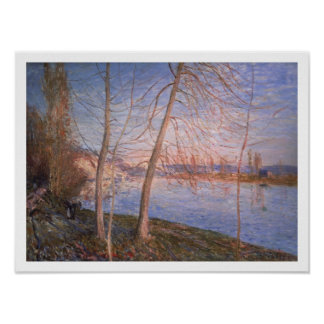 Poster Matin d'hiver d'Alfred Sisley  