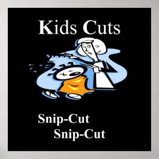 Poster Matte d'affiche de coupes d'enfants