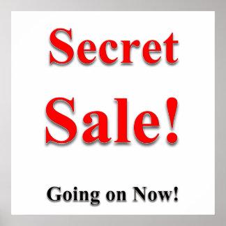 Poster Matte secrète d'affiche de vente
