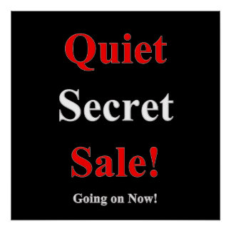 Poster Matte secrète tranquille d'affiche de vente