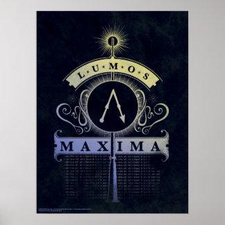 Poster Maximum du charme   Lumos de Harry Potter