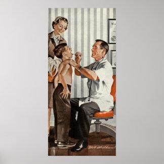 Poster Médecine vintage, docteur Seeing un patient de