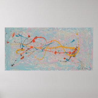 Poster Médias mélangés de peinture abstraite