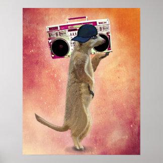 Poster Meerkat et caisson de basses