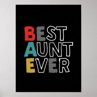 Poster Meilleure tante drôle et mignonne Ever Cool tante