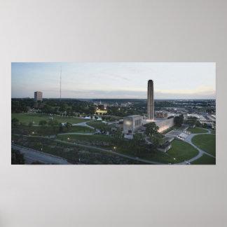 Poster Mémorial de liberté et bâtiment de BMA, Kansas