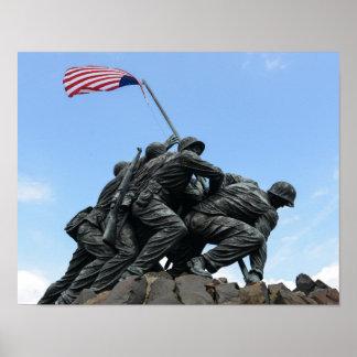 Poster Mémorial d'Iwo Jima dans le Washington DC