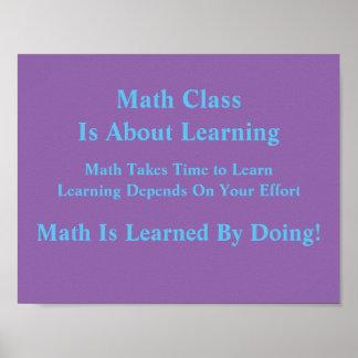 Poster Mentalités de maths Affiche-Instruites en faisant