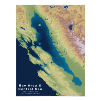 Poster Mer de central de région de baie de la