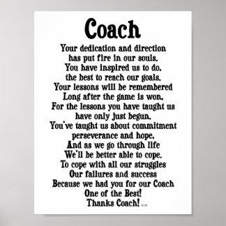 Poster Merci d'entraîneur