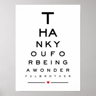Poster Merci pour être un diagramme d'oeil merveilleux de
