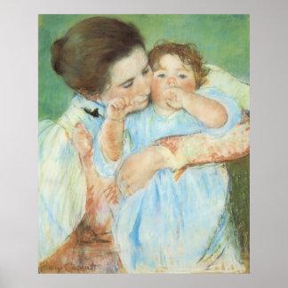 Poster Mère et enfant par Mary Cassatt, beaux-arts