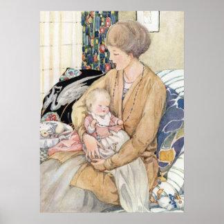 Poster Mère vintage et bébé par Anne Anderson