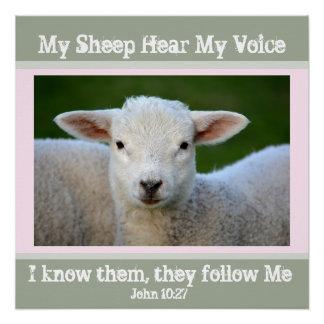Poster Mes moutons entendent ma voix, 10h27 de John de