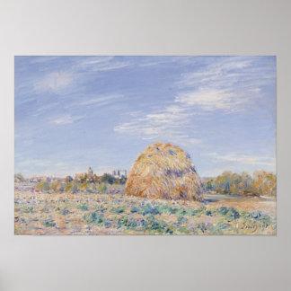 Poster Meule de foin d'Alfred Sisley | sur les banques du