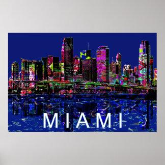Poster Miami dans le graffiti